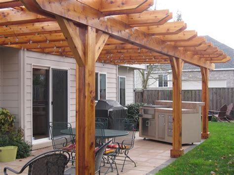 cedar pergola and outdoor kitchen tigard tnt builders