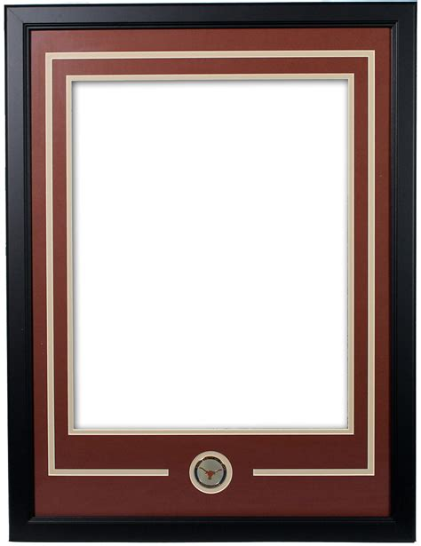 of longhorns matted frame with