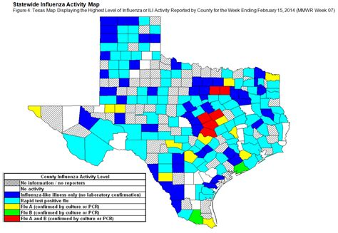 texas flu map 2013 2014 dshs flu report week 7