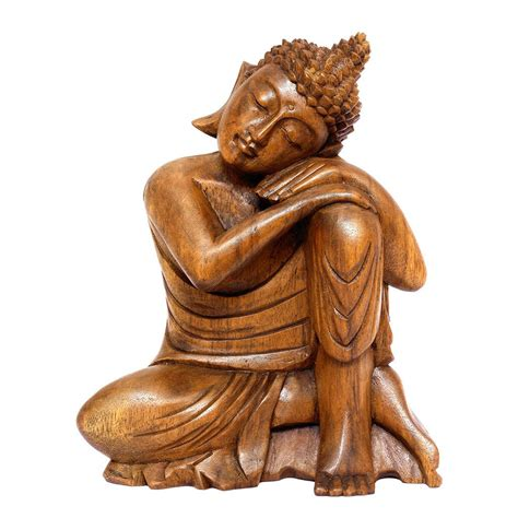 home decor statue 11 quot wooden serene sleeping buddha statue hand carved figurine home dec g6 collection