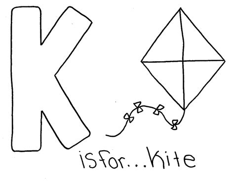 color starts with k letter k words alphabet coloring pages free alphabet
