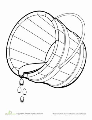 water bucket coloring page bucket coloring page worksheets coloring pages and buckets