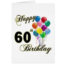 happy birthday 60 years cards happy birthday 60 years card templates postage