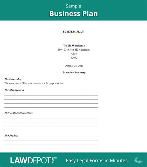 Basic Business Plan Template Gallery Template Design Ideas Basic Business Template