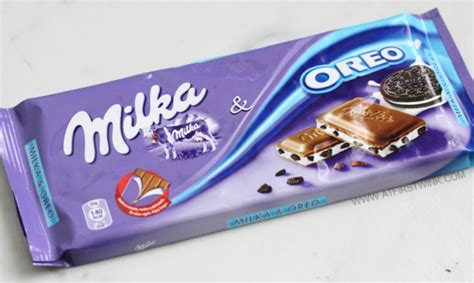 chocolate bar review milka oreo and milka daim