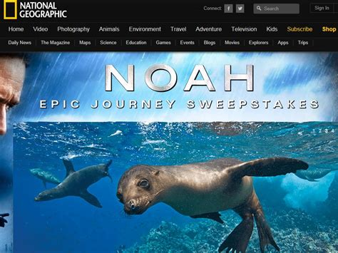 Journeys Sweepstakes - national geographic noah epic journey sweepstakes