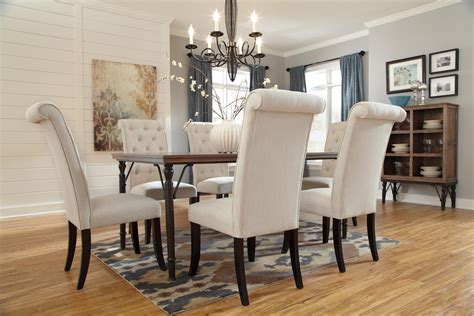 Metal Dining Room Table Sets 7 Rectangular Dining Room Table Set W Wood Top Metal Legs By Signature Design By