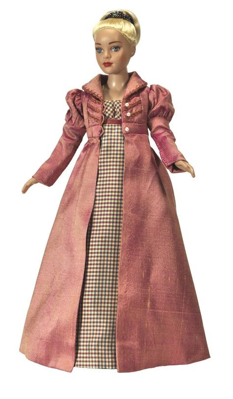 Fashon Boneka regency day dress and pelisse from boneka doll fashions for tiny tonner doll 10 inch