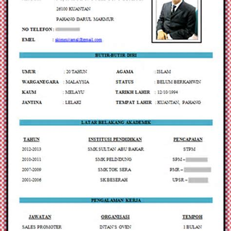 membuat cv online simple contoh resume the best resume
