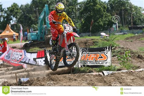 Cacing Sukoharjo motorcross editorial stock image image 36499244