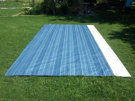 awning cloth replacement rv awning replacement fabric a e dometic sunchaser 20 ft blue 27 ebay