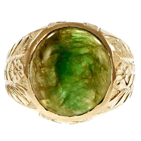 men s jadeite jade gold ring at 1stdibs