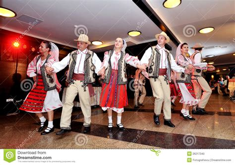 romanian traditional people editorial image image