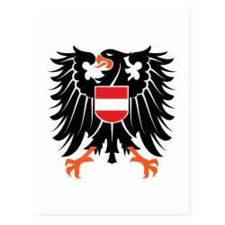 eagle coat of arms austria eagle crest austria postcard