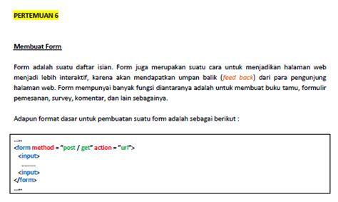 belajar membuat form html mari belajar membuat form