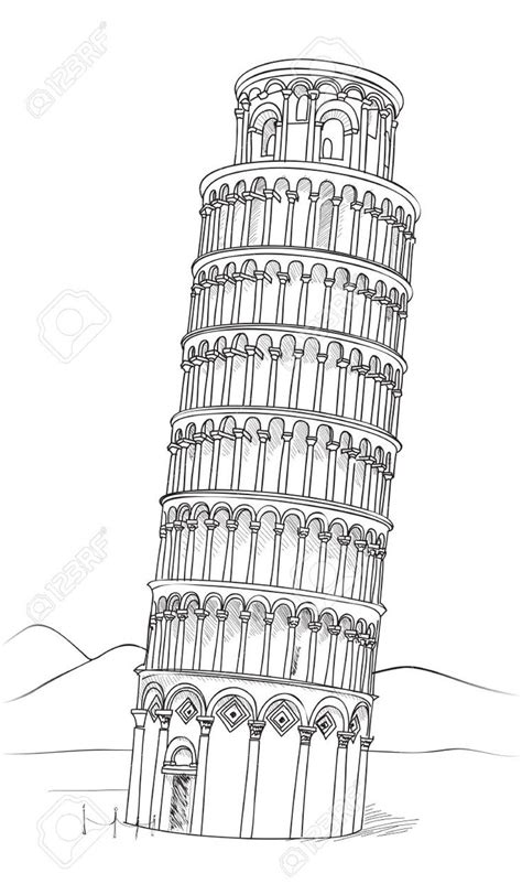 leaning tower of pisa drawing google search konsert