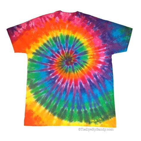 classic rainbow spiral tie dye shirt by tiedyebysandy on etsy