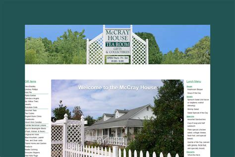 house web design website design client the mccray house websites that rank