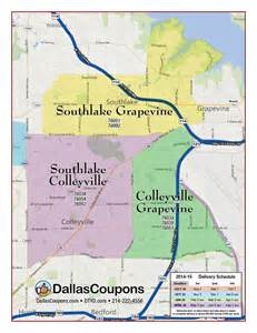 southlake map door hanger advertising dallas fort worth tx delivery areas