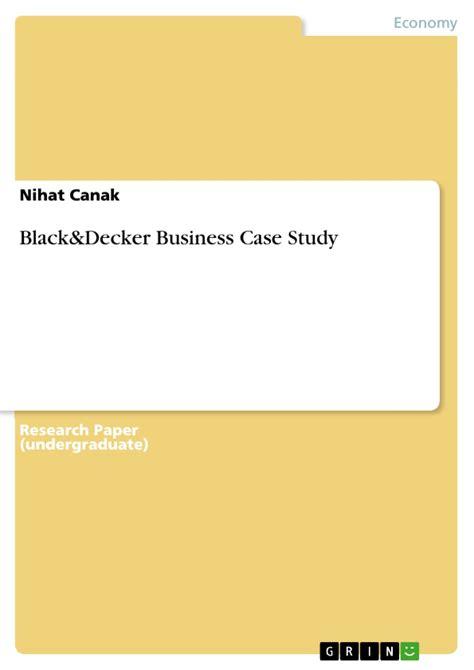 buch decker black decker business study hausarbeiten publizieren