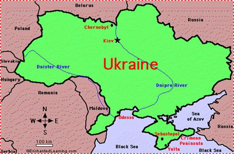 map ukraine europe map of ukraine enchantedlearning
