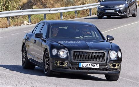 2019 Bentley 4 Door by Spyshots 2019 Bentley Flying Spur Prototype Hides