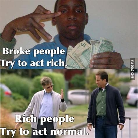 Rich Memes - broke people and rich people funny people and rich people