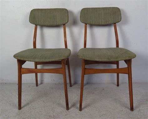 Set Of Six Mid Century Upholstered Teak Dining Chairs For Mid Century Teak Dining Chairs