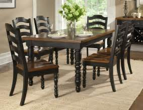 Concord black 7 piece 54 215 38 leg table dining room set on sale online
