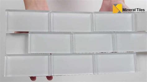 white glass subway backsplash tile subway glass tile simplicity white 2x4 120kepwg24 youtube
