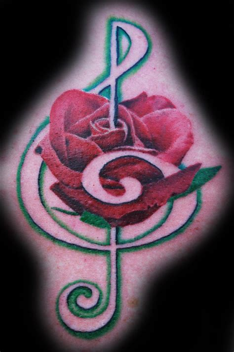 treble clef with rose tattoo treble clef by joshing88 on deviantart