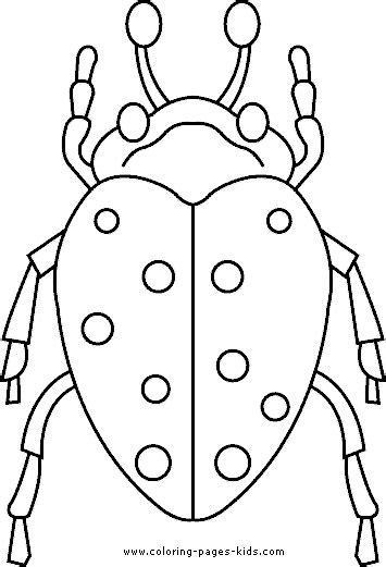 bugs coloring sheet spotted bug
