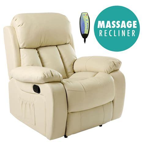 sofa massage chester cream heated leather massage recliner chair sofa