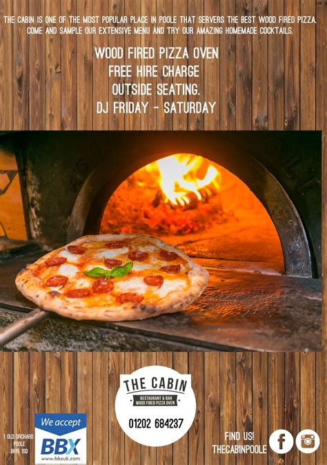 The Cabin Pizza by The Cabin Restaurant Bar Wood Fired Pizza Authentic