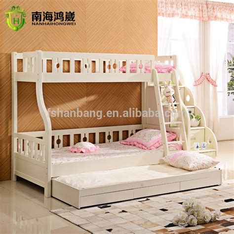 3 Level Bunk Bed 3 Level Wooden Mdf Pull Out Bunk Bed Furniture With Drawer Stairs Buy Furniture