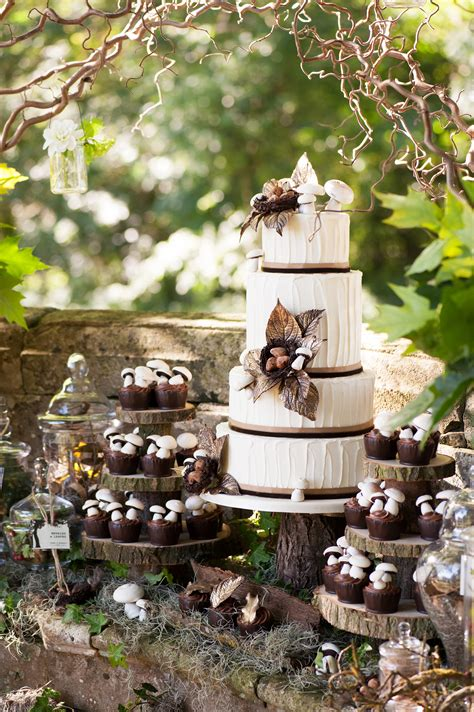 woodland themed wedding cake rustic wedding chic