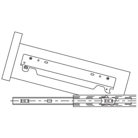 drawer slide detent kit accuride 1 overtravel side bottom mount drawer slide