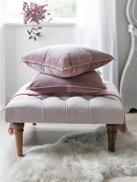 dusty pink velvet cushion large pink velvet cushions