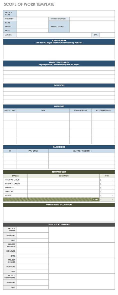 Free Statement Of Work Templates Smartsheet Cctv Scope Of Work Template