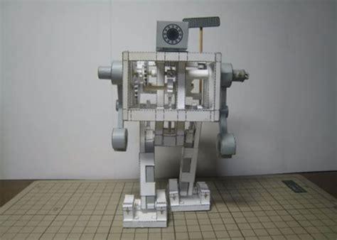 Mechanical Papercraft - papercraft walking bipedal robot make
