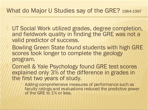 Cornell Mba Gre Scores by Gre Measure Of Graduate School Success Fnl