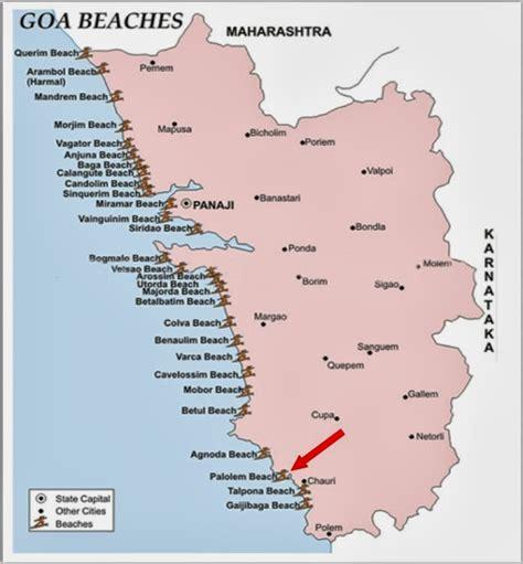resort goa map detail palolem goa location map