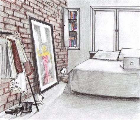 sketch of a bedroom 13 best images about interior perspective ref on pinterest