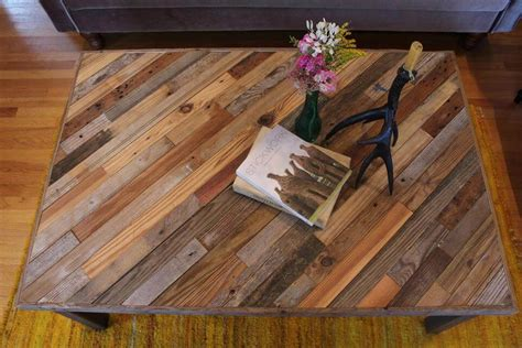 pallet and barn wood coffee table pallet furniture diy