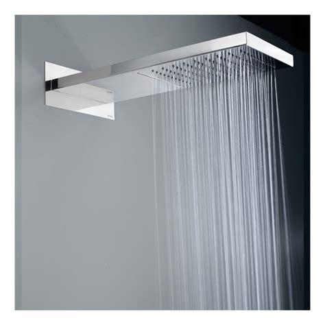 soffione doccia cascata soffione doccia bossini manhattan in acciaio con pioggia e