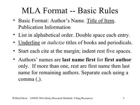 novel format rules citing mla