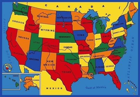 educational maps of the united states usa united states america map educational 3 x 5