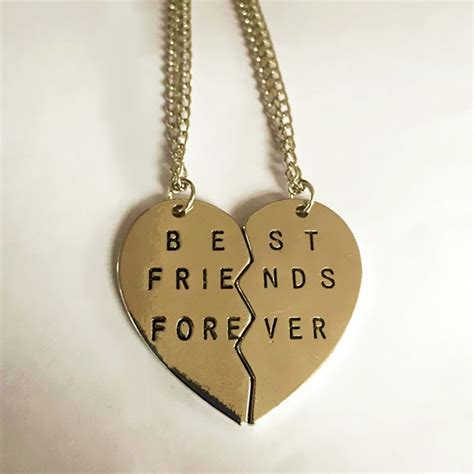 Broken Best Necklace Kalung Pasangan Silver 1 gold and silver color bestfriend broken necklace pendant necklace for fashion