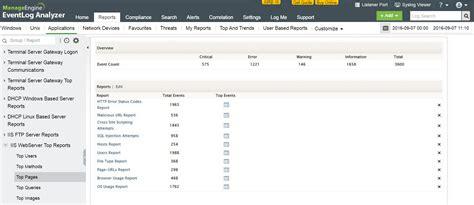 iss web application log management tool