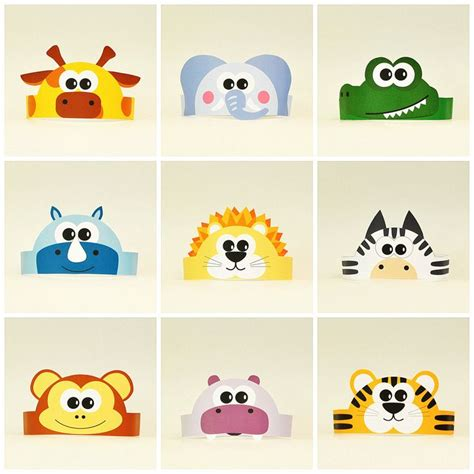 printable paper animal hats 25 best ideas about paper crowns on pinterest paper